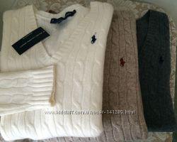 Кремовый шерстяной свитер  Ralph Lauren Sport