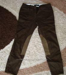 Новые стильные брюки-бриджи  Zara womаn с замшевыми вставками