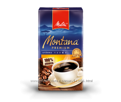 Кофе молотый  Montana Premium Melitta. 500г