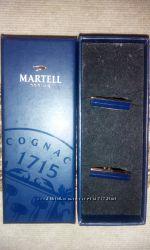 Продам запонки Martell синие под золото, Matis коричневые с голубым