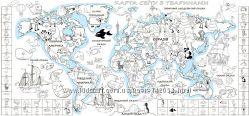 Карта мира с наклейками