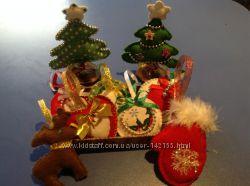 Подарки к Новому году , украшения из фетра, флиса