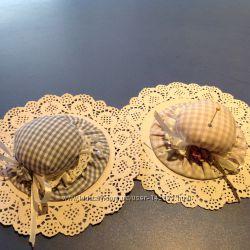 Подарки  к 8 Марта- женскому дню- очаровательные шляпки-игольницы