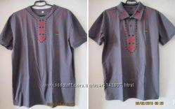 Мужские серые футболки и поло в наличии, размеры разные