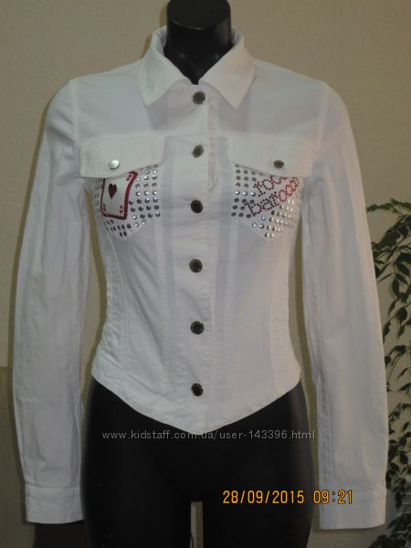 пиджак джинсовый roccobarocco р. s белый