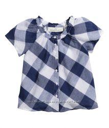 Тонюсенькая хлопковая блузка-туничка H&M для летней жары