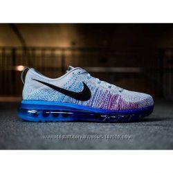 Кроссовки Nike flyknit Max 2014 greyblu