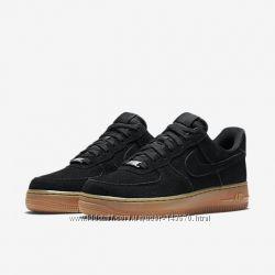 Nike air Force low suede черные распродажа  бесплатная доставка