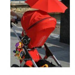 Коляска stokke crusi люлька, прогулка, аксессуары. Цвет красный.