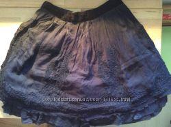 Нарядная черная многослойная юбка 36 размера тм Naf-Naf