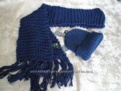 Шапка и Шарф комплект H&M - Синий цвет