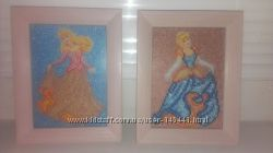 Продам картины Принцесс вышитые бисером-цена снижена