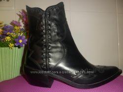 ZARA ботинки-казаки натуральная кожа. Оригинал