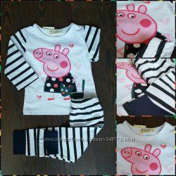 Яркая пижама  Пеппа для маленькой модницы