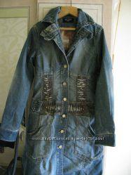 Шикарное джинсовое пальто Sassofono р. 27
