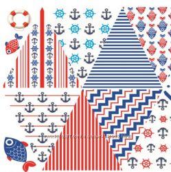 Фетр с рисунком Морские флажки