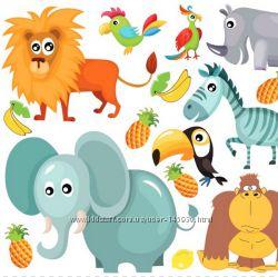 Фетр с рисунком Африканские животные