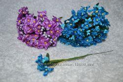 Цветы на проволоке пучками для канзаши