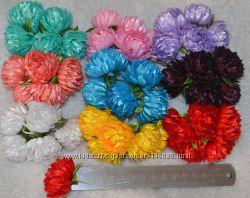 Цветы для веночков, поделок канзаши, украшений на свадьбу и праздники
