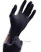 Перчатки чёрные нитриловые Medicom. Суперпрочные