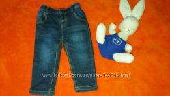 Стильные модные джинсы- скини для малышки 6-12 месяцев