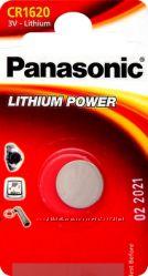 Дисковые литиевые батарейки Panasonic CR1216, 1220, 1616, 1620, 1632, 2016, 2025