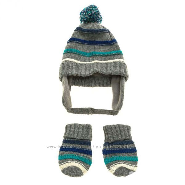 Комплект шапочка и варежки от mothercare на 3-6 мес.
