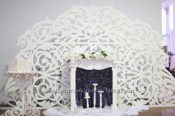 Свадебная арка, ширма резная, президиум, выездная церемония