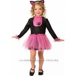 Карнавальное платье    розовой кошечки 6-8-10  лет  США