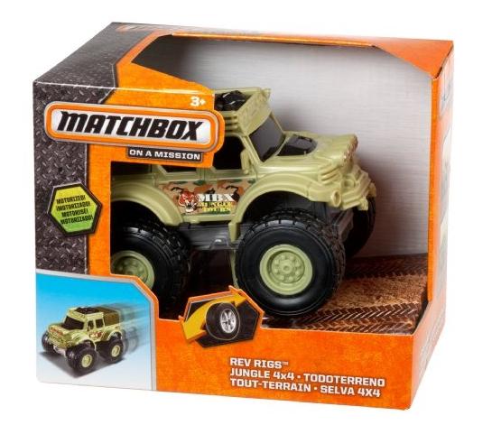 Машина джип Matchbox Rev Rigs Jungle 4x4 Truck  Америка 12 MATTEL