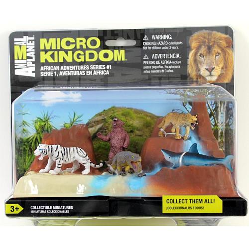 Фигурки животных Animal Planet Micro Kingdom Африканские приключения США 12