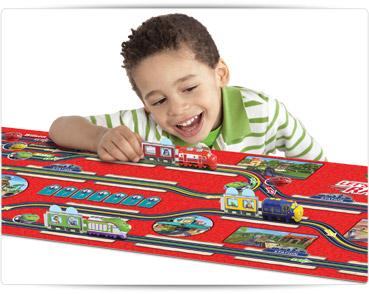Игровой коврик с 3 паровозиками Сhuggington lets ride the rails Оригинал 14