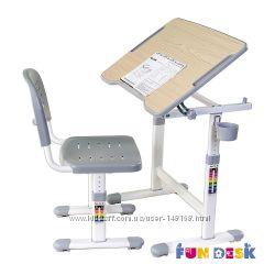 Комплект парта и стул-трансформеры FunDesk Piccolino II Pink, Grey, Blue