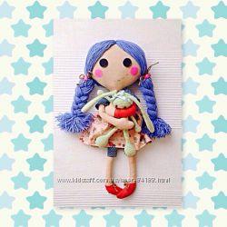 Текстильные куклы с одеждой для ролевой игры.