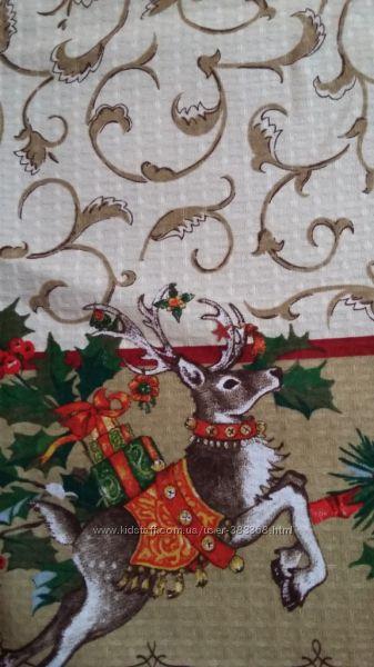Вафельные полотенца новогодние