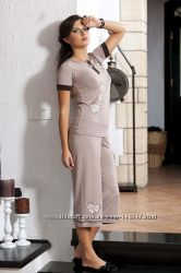 Женский домашний комплект с капри Shirly 4708