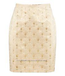 Продам наряднейшую юбку из парчи HM золотого цвета