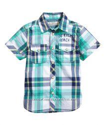 Рубашка на короткий рукав H&M, р. 116, оригинал