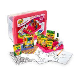 Новый большой набор для творчества Crayola в коробке, pink, оригинал