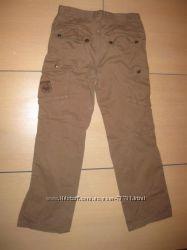 Бежевые котоновые брюки на мальчика 10-11 лет, р. 158