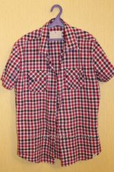 Клетчатые фирменные рубашки размер L, M.