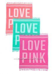 Пляжное покрывало полотенце Victorias Secret PINK Виктория Сикрет Пинк