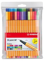 Ручки капиллярные набор 30 шт Stabilo Point 88