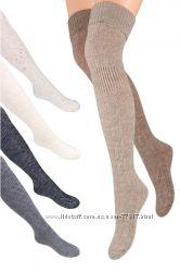 Теплые шерстяные чулки, ботфорты, носки. Польша, Разные цвета