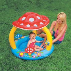 Бассеин Грибок 57407 Intex детский с навесом распродажа
