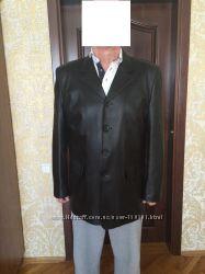 Новая мужская кожаная куртка-пиджак