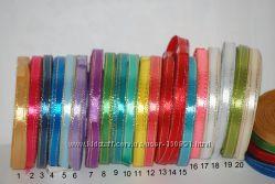 Продам атласные ленты 6 мм и 1 см с люрексом