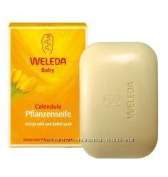Weleda Calendula Natural Soap натуральное мыло для младенцев в наличии