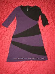 Красивое платье M&Co с ассиметричным рисунком Англия