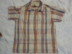 Рубашки с коротким рукавом на мальчика 5-7 лет